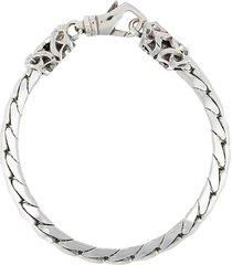 emanuele bicocchi bone-structure bracelet - silver