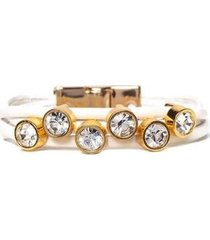 pulseira couro armazem rr bijoux cristais