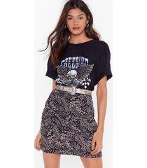 womens gotta let you grow floral mini skirt - black