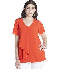 blusa capas naranja lorenzo di pontti