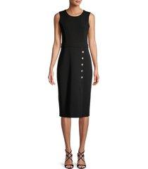 karl lagerfeld paris women's roundneck sheath dress - black - size 4