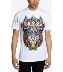 men's tribal tiger head graphic t-shirt