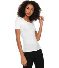 camiseta hering ajustada branca - branco - feminino - algodã£o - dafiti