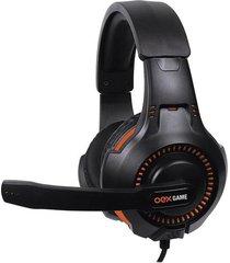 headset gamer oex game gorky preto e laranja hs413