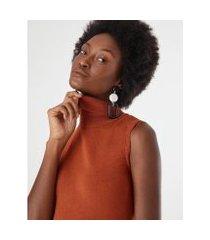 blusa regata gola alta - zinzane feminina