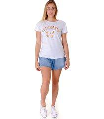 camiseta operarock t-shirt college branca - branco - feminino - algodã£o - dafiti