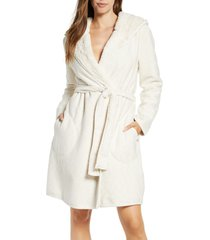 women's ugg portola reversible hooded robe, size x-large - ivory