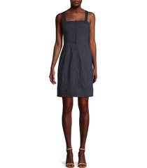 theory women's kayleigh button-front dress - concord - size 8