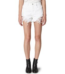 blanknyc the barrow ripped high waist denim shorts, size 28 in aspen at nordstrom
