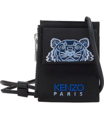 kenzo canvas kampus tiger card holder with long strap