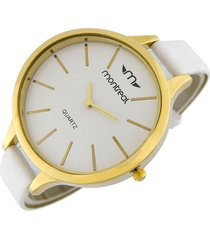 reloj blanco montreal cuero