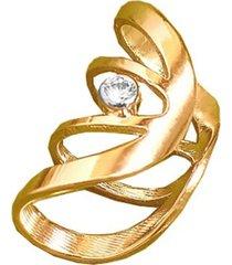 brinco piercing gladiador ponto cristal banhado a ouro 18k