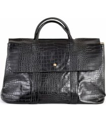cartera maletin coco alargada negro mailea