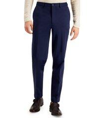 calvin klein men's slim-fit stretch navy blue suit pants