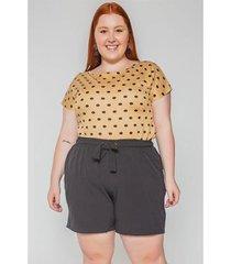 blusa poá kauê plus size feminina - feminino