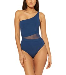 bleu by rod beattie one-shoulder one-piece swimsuit women's swimsuit