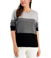 karen scott colorblocked sweater, created for macy's