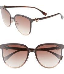 women's fendi 57mm sunglasses - brown