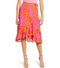women's 4si3nna maia floral print wrap skirt