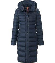 doorgestikte jas met afneembare capuchon van fuchs & schmitt blauw