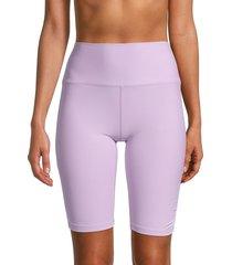 betsey johnson performance women's high-waist bike shorts - wisteria - size l