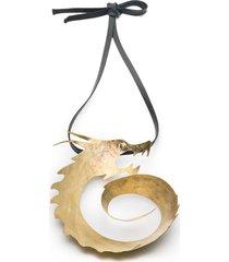 natori hammeredss swirl dragon necklace, women's