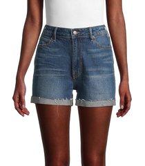 true religion women's whiskered denim shorts - babe center - size 28 (4-6)