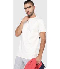 camiseta blanco hueso-negro asics big logo