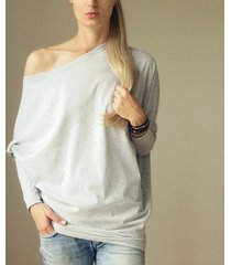 asymetryczna bluzka trapez szary