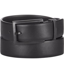 calvin klein men's bevel-edge leather belt