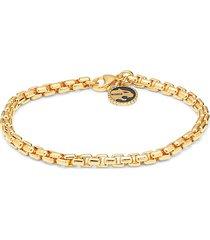 effy men's 14k goldplated sterling silver panther charm bracelet