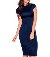 vestido largo azul navy atypical