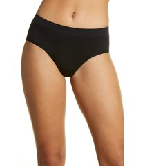 women's nordstrom bare hipster panties, size xx-large - black