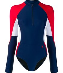 perfect moment long-sleeved swimsuit - blue