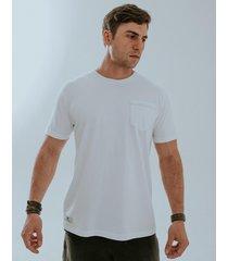 camiseta fide bolso branca