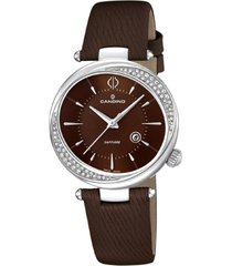 reloj elegance d-light chocolate candino