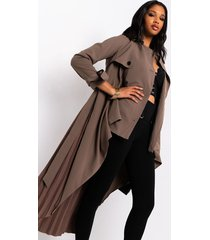 akira nice and slow pleat belted trench