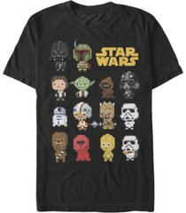 fifth sun men's pixel party short sleeve crew t-shirt
