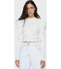 blusa glamorous blanco - calce ajustado