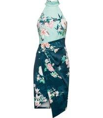 abito a fiori con scollo all'americana (blu) - bodyflirt boutique
