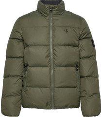 down puffer jacket fodrad jacka grön calvin klein jeans