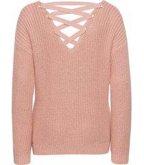 maglione con stringhe sulla schiena (rosa) - rainbow