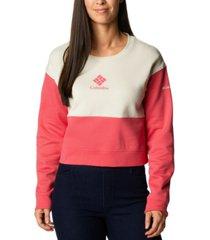 columbia women's trek cropped sweatshirt