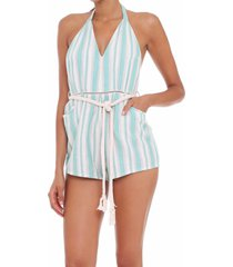 jumpsuit light blue stripes