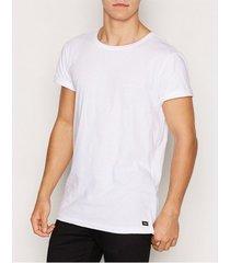dr denim patrick tee t-shirts & linnen white