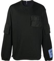 mcq sid pocket sweatshirt - black