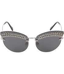 65mm winged rhinestone sunglasses