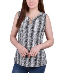 ny collection petite sleeveless pullover with chain