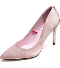 zapato tacón alto color rosa paris hilton p25-c