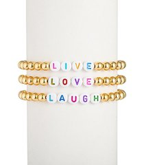 the luxe live love laugh 18k goldplated alphabet bead bracelet